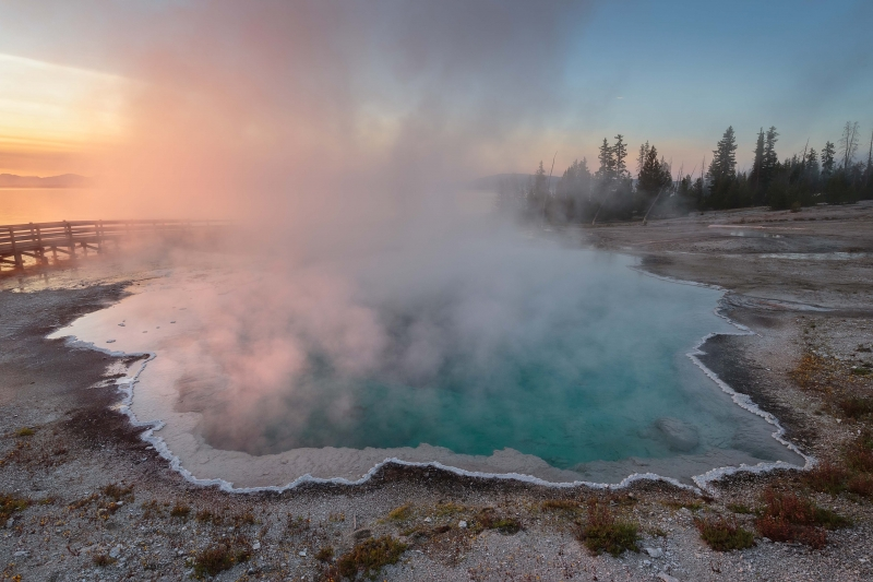 Thermal Pool Sunrise